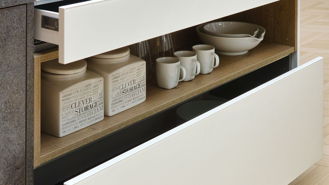 Modern kitchen storage shelf Bournemouth