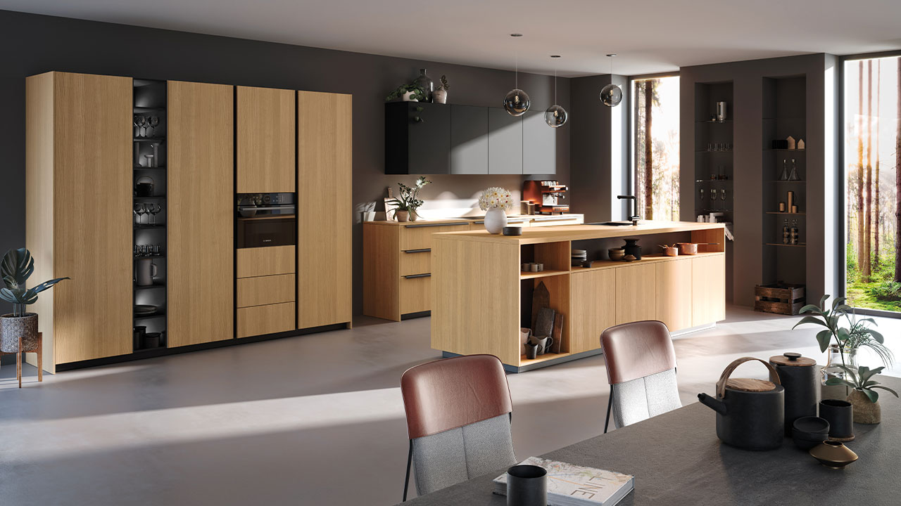Luxury wood finish kitchen Poole