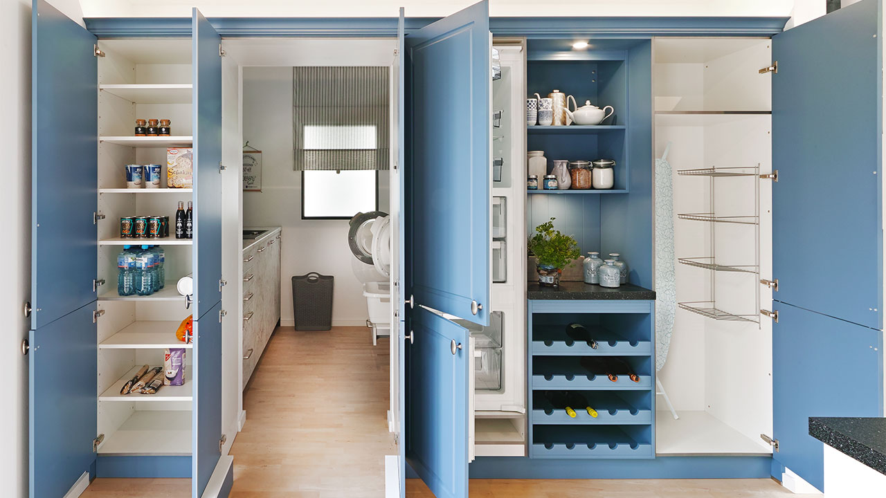 Concealed kitchen door open